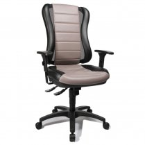 Head Point 30 Black and Taupe Fabric Office Chair
