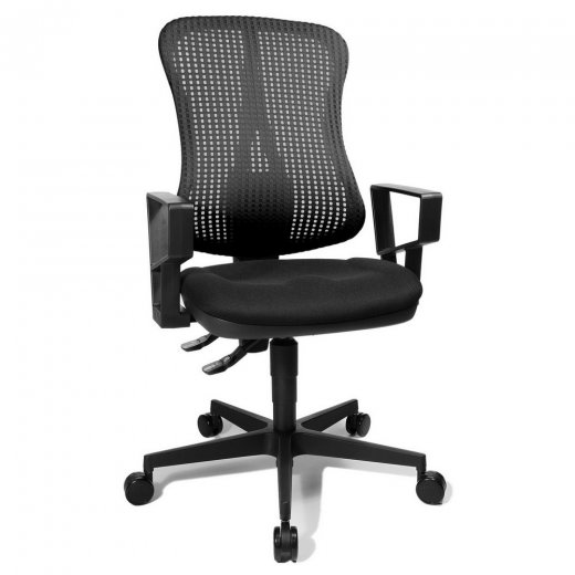 Topstar Head Point P Black Fabric and Mesh Office Chair