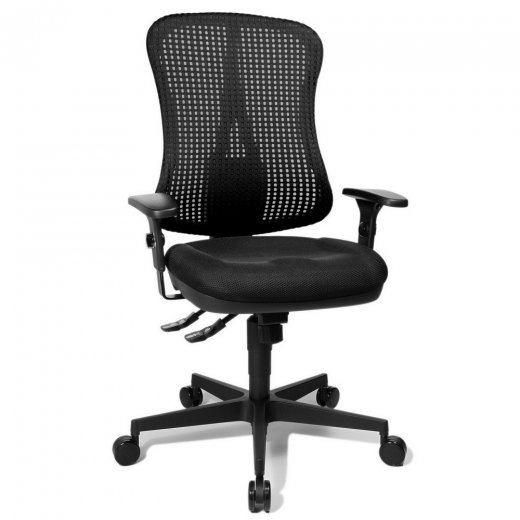Topstar Head Point SY Black Fabric and Mesh Office Chair