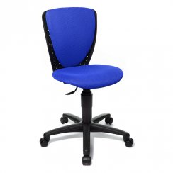 High S'Cool Blue Child's Gas Lift Swivel Chair