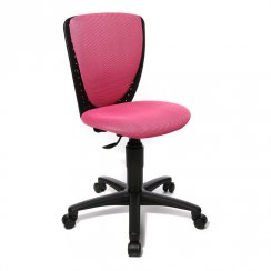 High S'Cool Pink Child's Gas Lift Swivel Chair