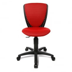High S'Cool Red Child's Gas Lift Swivel Chair