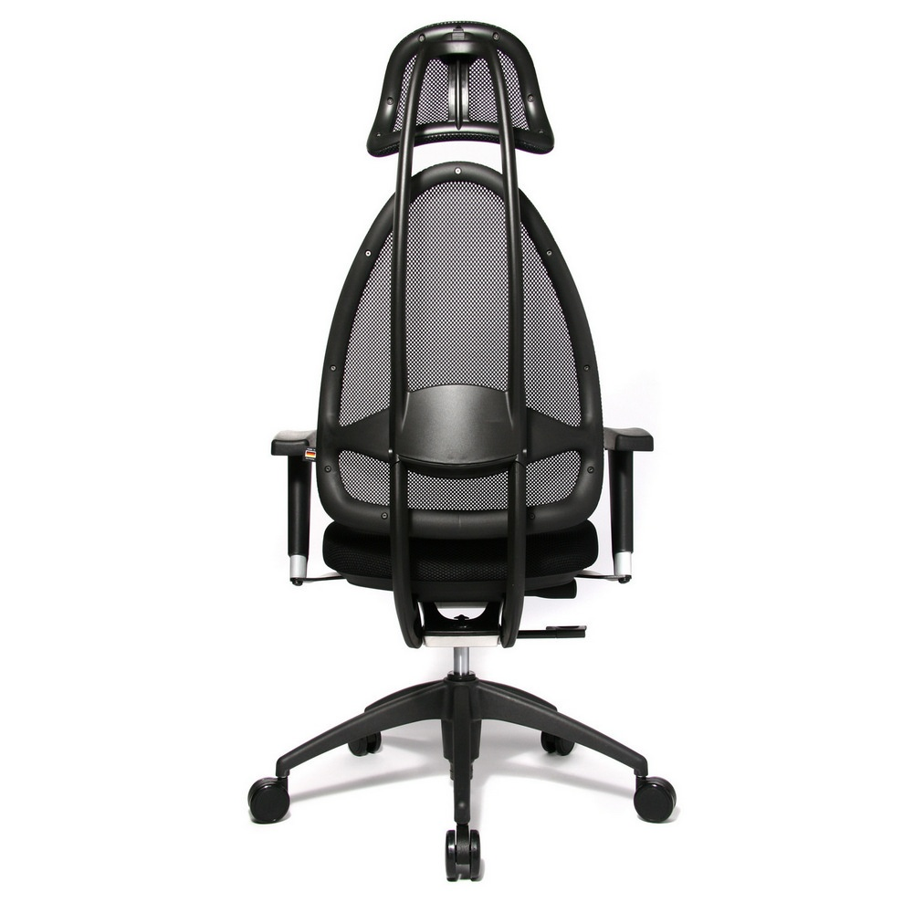 open art 2010 black fabric and mesh office chair opa0tb900e