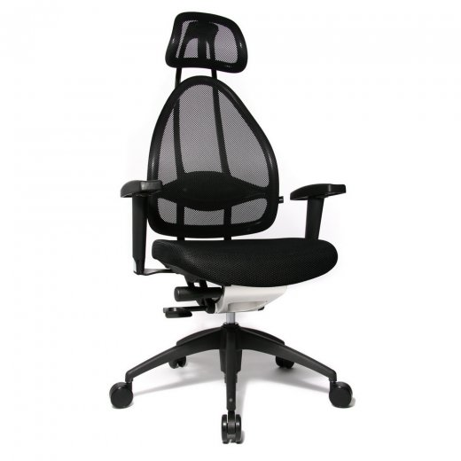 Topstar Open Art 2010 Black Fabric and Mesh Office Chair
