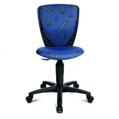S'Cool 3 Blue Fabric S'Cool Motif Junior Swivel Chair