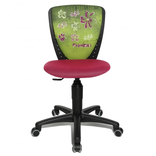 Topstar S'Cool Niki Flower Motif Junior Swivel Chair