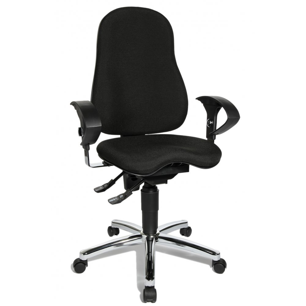sitness 10 black fabric ergonomic office chair si59ug20e