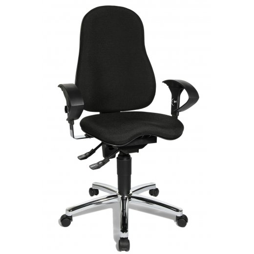 Topstar Sitness 10 Black Fabric Ergonomic Office Chair