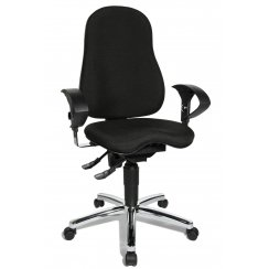 Sitness 10 Black Fabric Ergonomic Office Chair