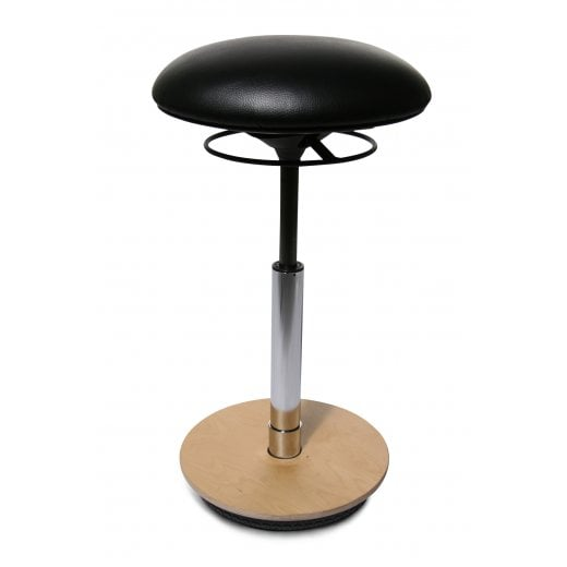 Sitness 26 Height Adjustable Stool with Faux Leather Fabric ST60