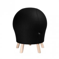 Sitness 5 Alpine Black Wool Blend Spherical Stool