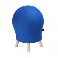 Sitness 5 Alpine Blue Wool Blend Spherical Stool