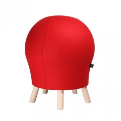 Sitness 5 Alpine Red Wool Blend Spherical Stool