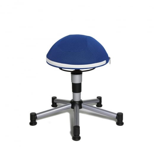 Topstar Sitness Junior Half Ball Blue Mesh Fabric Gas Lift Stool