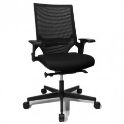 T300 Black Fabric Black Polycarbonate Frame Office Chair