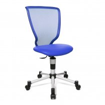 Titan Junior Mesh Back Blue Child's Gas Lift Chair.