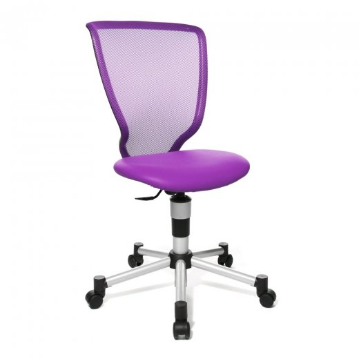 Topstar Titan Junior Mesh Back Purple Child's Gas Lift Chair.