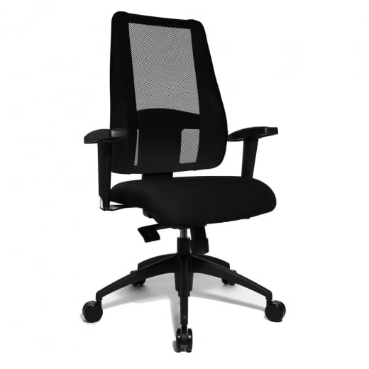 Topstar Lady Sitness Deluxe Sitness Professional Chair in Black Fabric LT20BTW500E