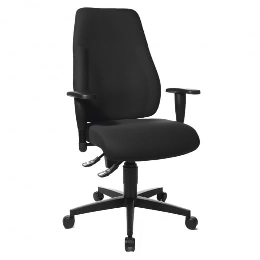 Topstar Lady Sitness Sitness Professional Chair in Black Fabric LT0BKBC0E