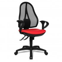 Open Point SY Black Fabric and Black Mesh Office Chair