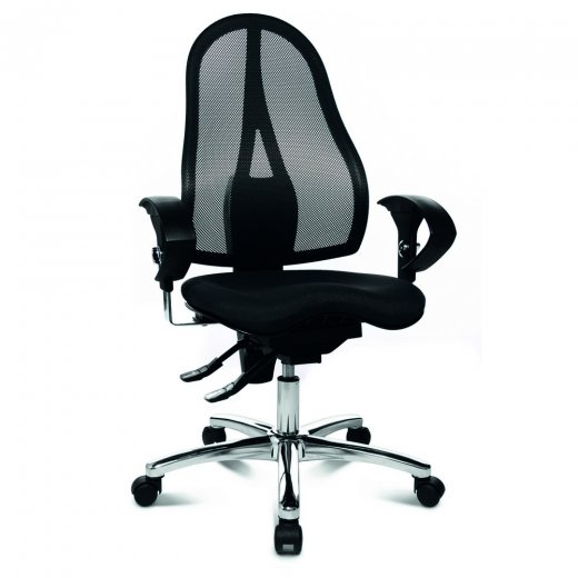 Topstar Sitness 15 Black Fabric and Mesh Ergonomic Office Chair