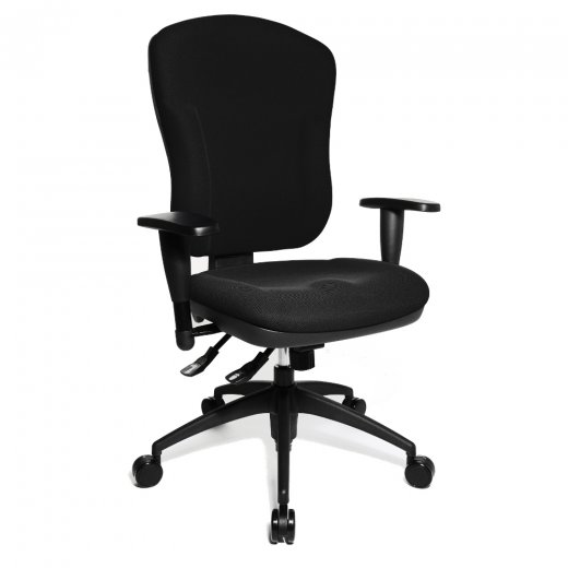 Topstar Wellpoint 30 SY Black Fabric Ergonomic Gas Lift Office Chair
