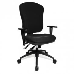 Wellpoint 30 SY Black Fabric Ergonomic Gas Lift Office Chair